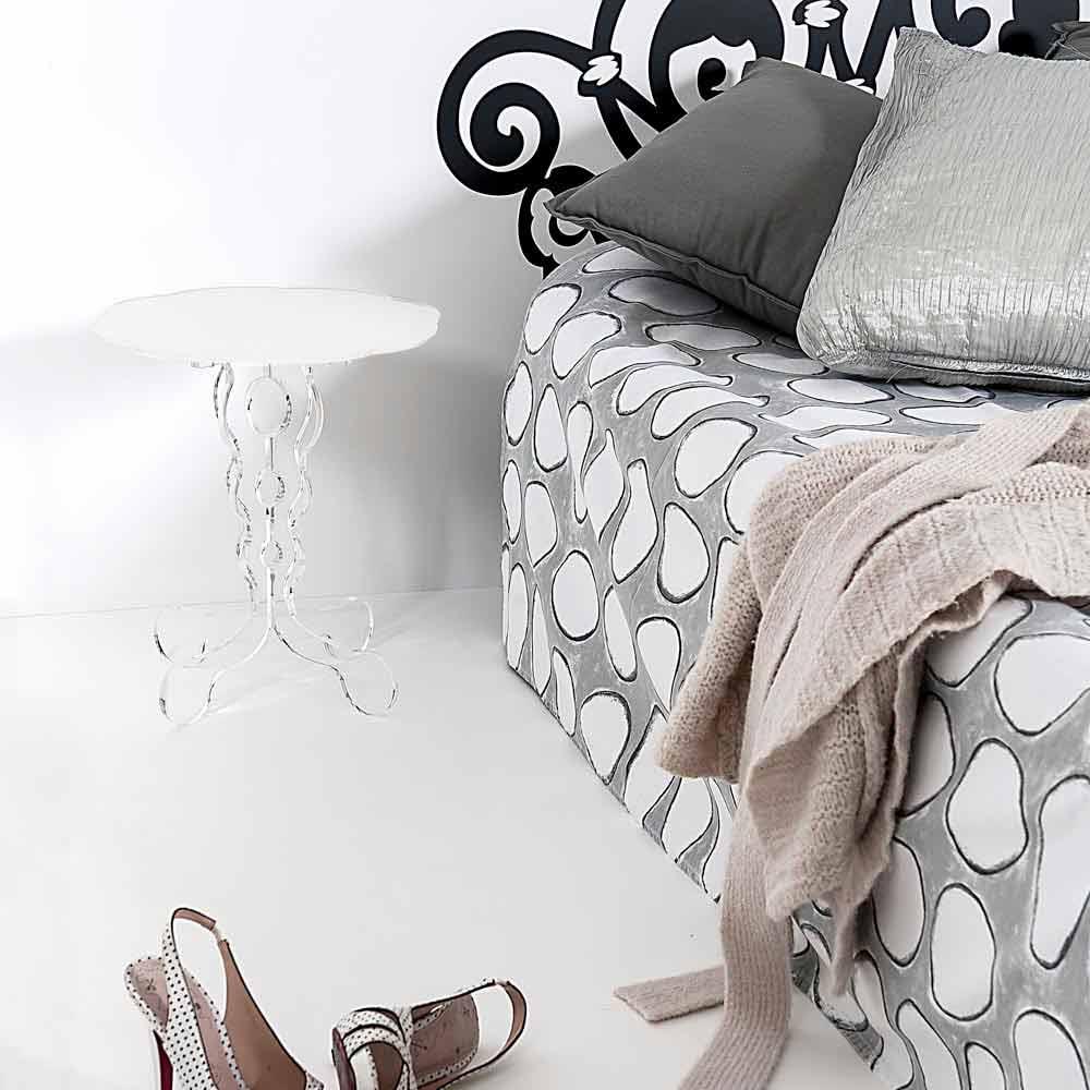 runder wei er tisch durchmesser 36cm modernes design janis. Black Bedroom Furniture Sets. Home Design Ideas