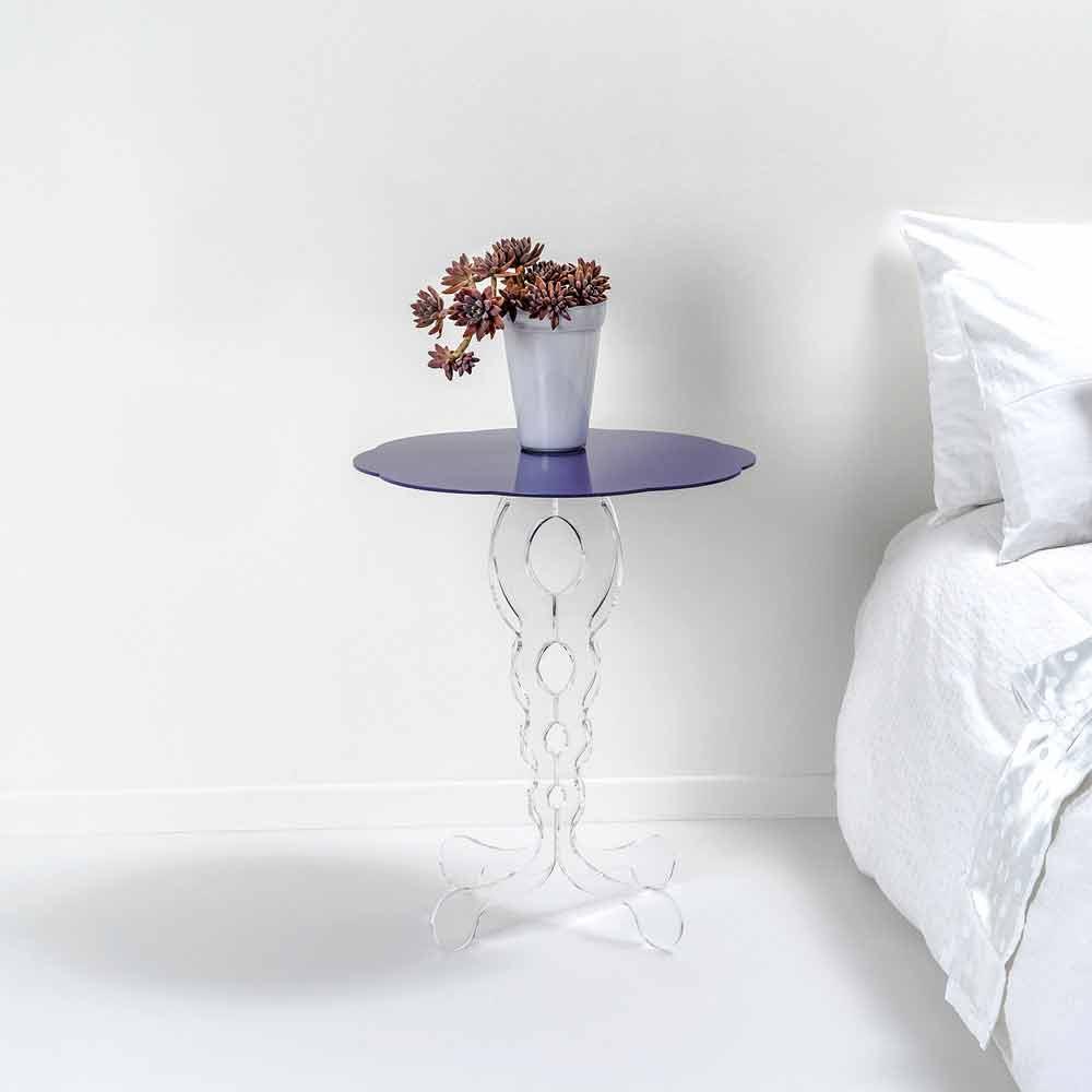 Janis modernes design runden lavendel couchtisch 50 cm for Couchtisch 50 cm