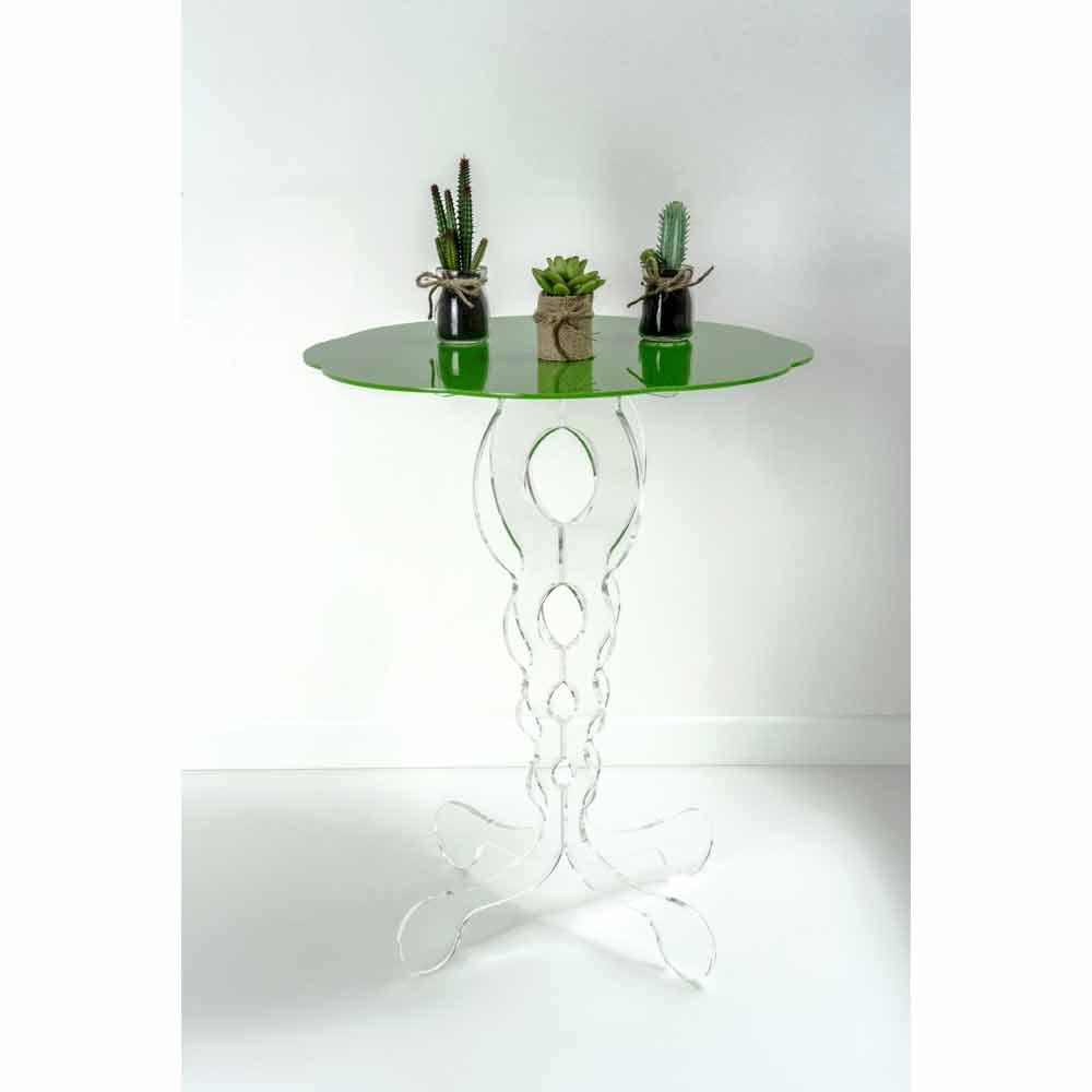 Gr ner runder couchtisch durchmesser 50 cm modernes design for Designer couchtisch italien