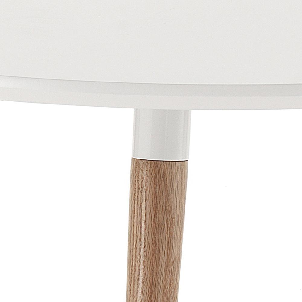 Tischplatte weiß matt  Verlängerbarer Holztisch mit matt weißer Tischplatte Ian