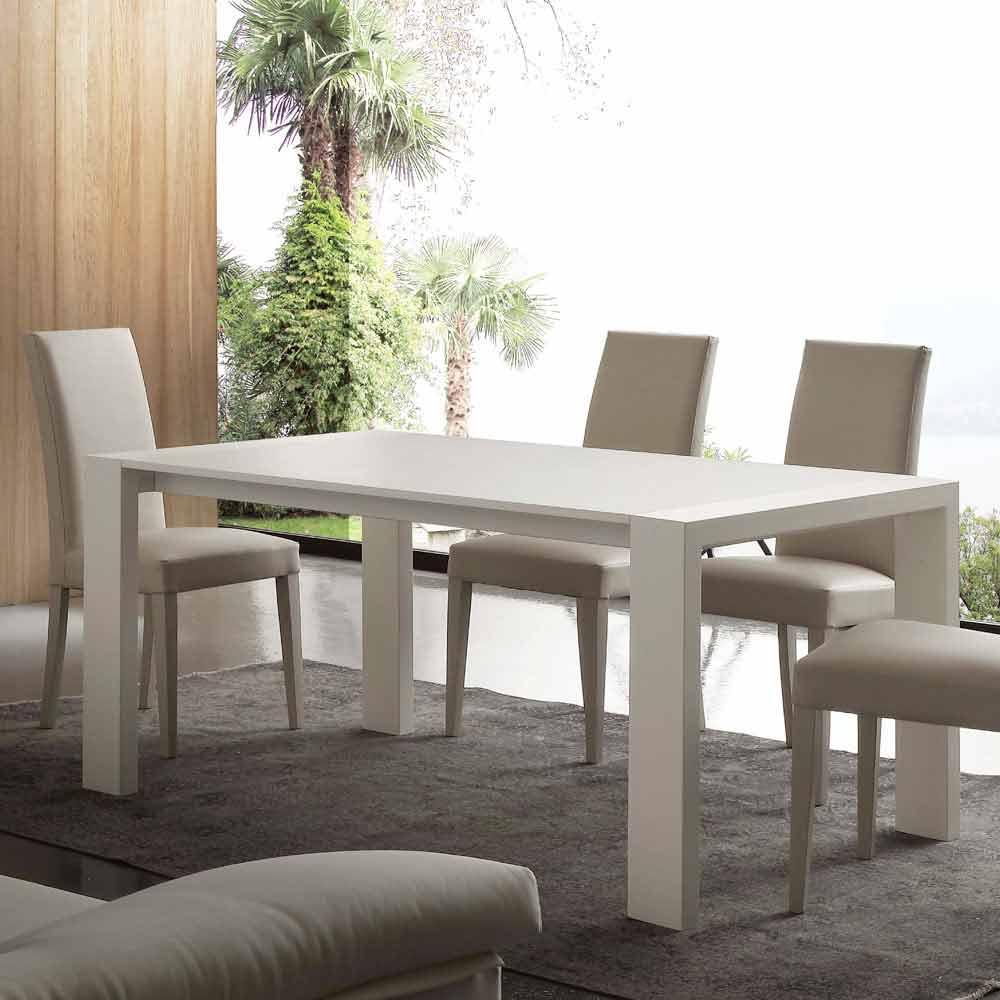 ausziehbarer tisch aus mdf und melaminbeschichteten. Black Bedroom Furniture Sets. Home Design Ideas
