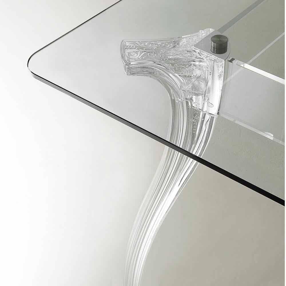 Esstisch mit hartglas tischplatte in modernem design jinny for Tischplatte design