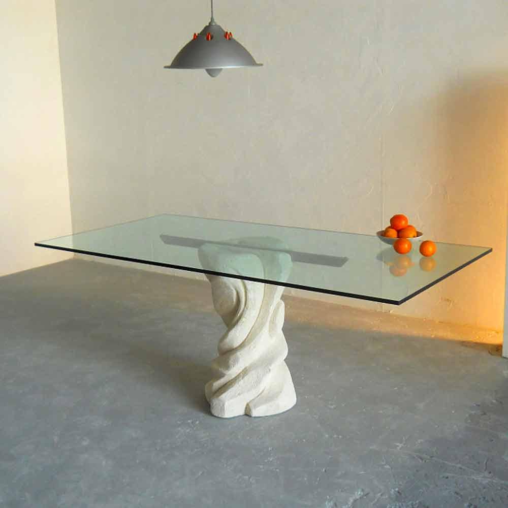 esstisch aus kristall und stein in modernem design urano. Black Bedroom Furniture Sets. Home Design Ideas