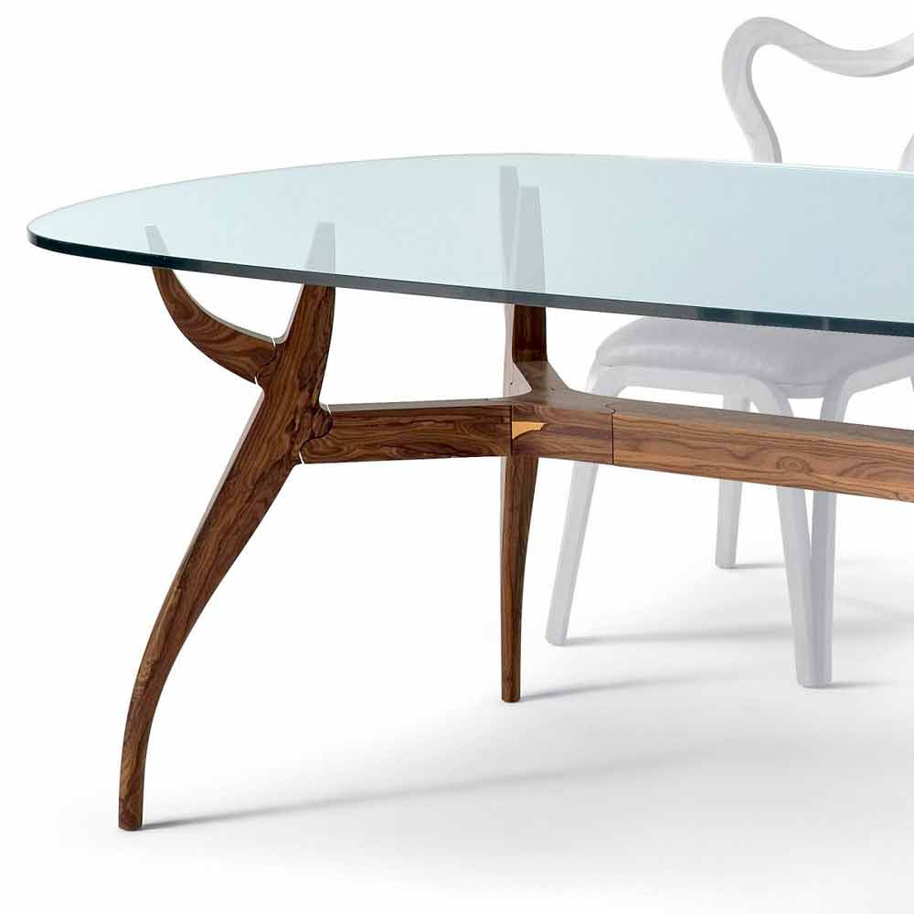 Ovaler esstisch aus gl nzendem mahagoni design 197x109 cm fraco - Ovale wandregale ...