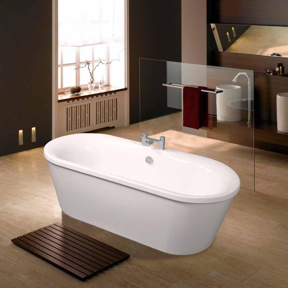 wei e acryl freistehende badewanne juni 1770x820 mm modernes design badewannen freestanding. Black Bedroom Furniture Sets. Home Design Ideas