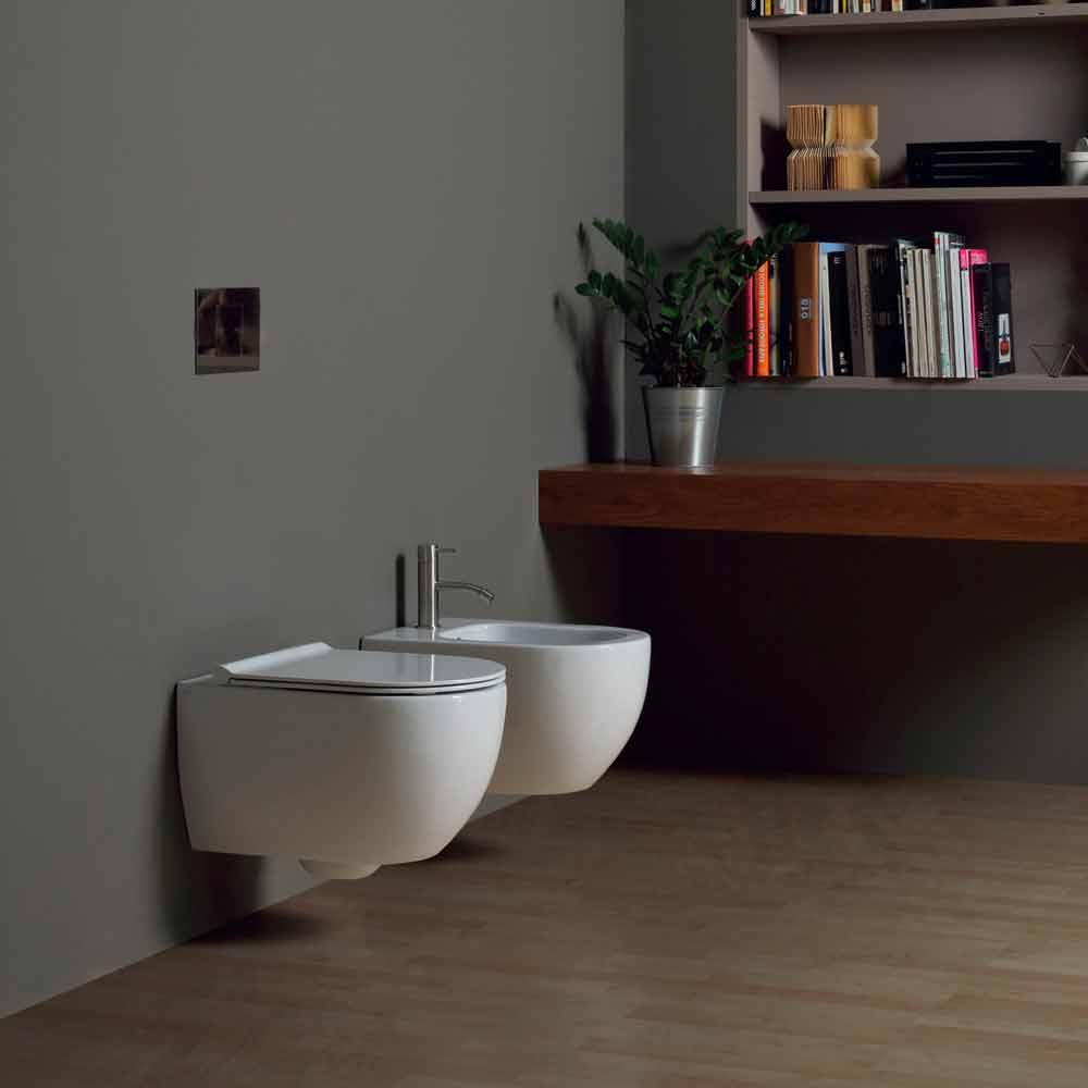 moderne h ngende toilettensch ssel aus keramik design star 50x35 italy. Black Bedroom Furniture Sets. Home Design Ideas