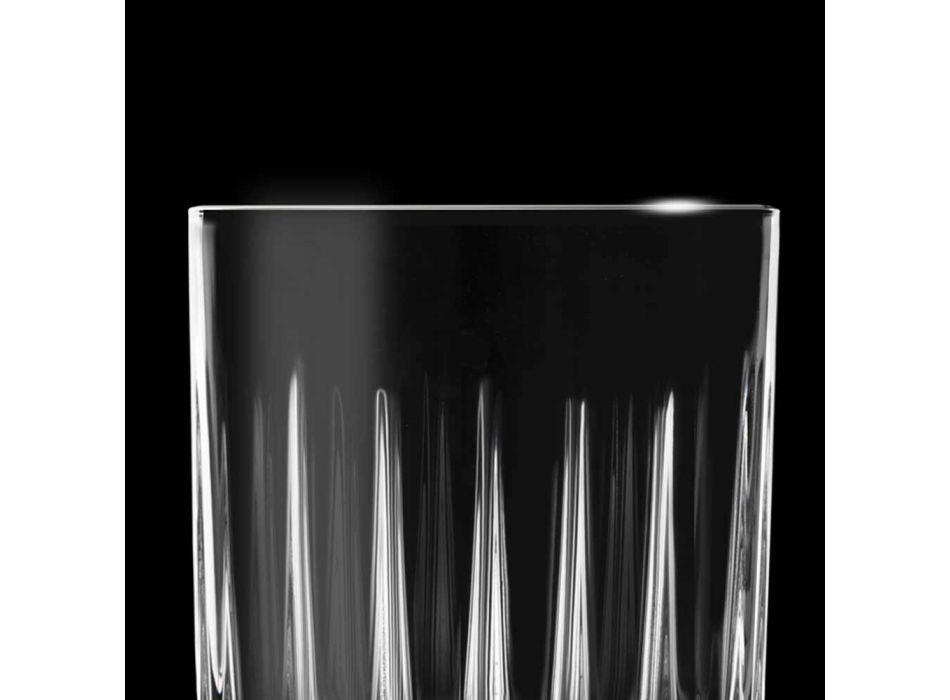 12 Likörgläser aus Öko-Kristall mit linearen Designdekorationen - Senzatempo