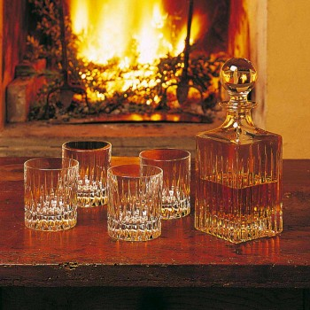 12 Low Whisky Gläser oder Tumbler Wasser in ökologischen Kristallen - Voglia