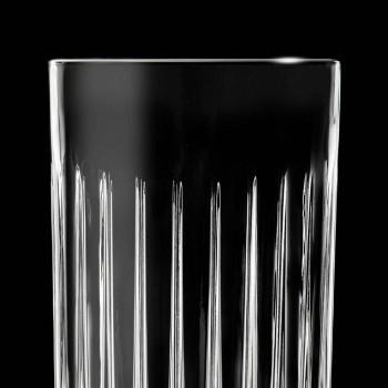 12 Tumbler Tall Highball Gläser aus verziertem Öko-Kristall - Senzatempo