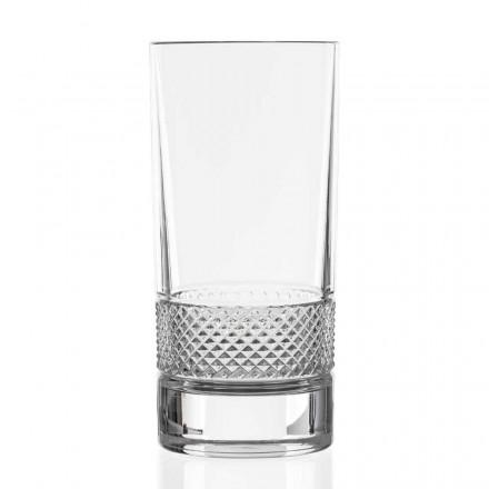 12 hohe Bechergläser aus luxuriös verziertem ökologischem Kristall - Milito