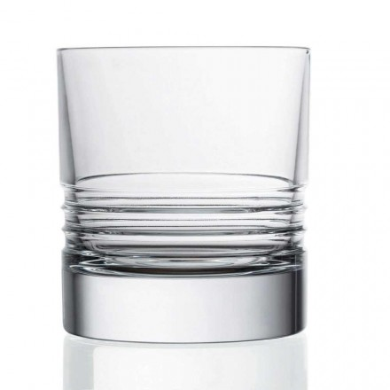 12 Tumbler Double Old Fashioned Crystal Whisky Gläser - Arrhythmie