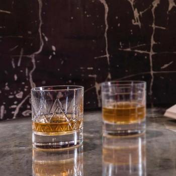 12 Glas Whisky oder Wasser Luxus Modernes Design in Kristall - Arrhythmie