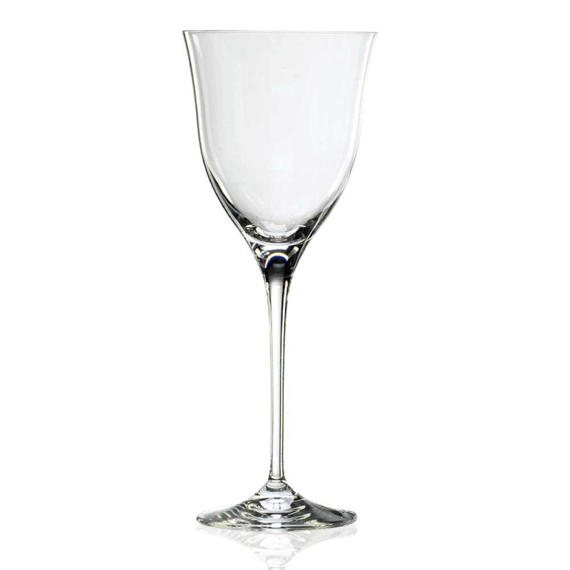 12 Weißweingläser in ökologischem Kristall Minimal Luxury Design - Glatt