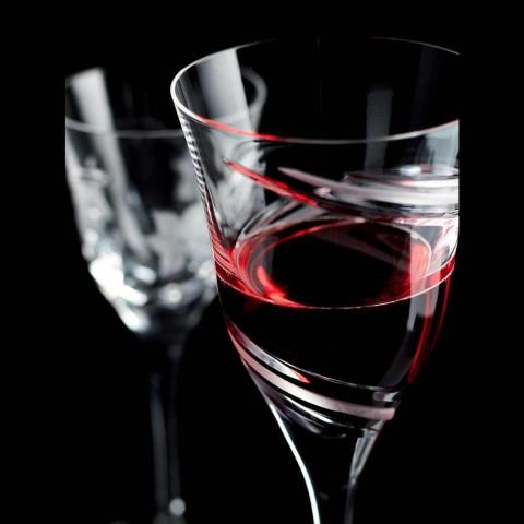 12 Rotweingläser in ökologischem kristallfreiem Luxus - Zyklon