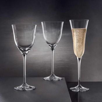 12 Flötengläser im ökologischen Luxus-Kristall-Minimal-Design - glatt