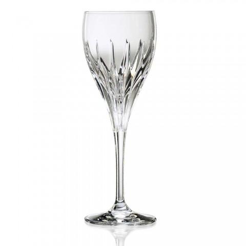 12 handdekorierte Weißweingläser aus ökologischem Luxuskristall - Voglia