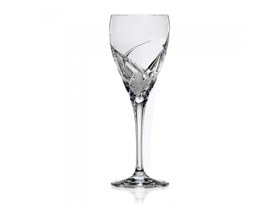 12 Gläser für Weißwein im ökologischen Kristall-Luxus-Design - Montecristo