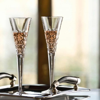 12 Weingläser Flutergläser für Kristallblasen - Titanioball