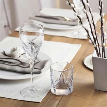 12 Rotweingläser im ökologischen Kristall-Luxus-Design - Montecristo