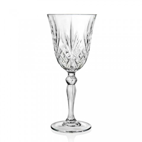 12 Gläser Wein, Wasser, Cocktail im ökologischen Kristall-Vintage-Stil - Cantabile