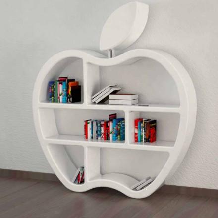 Bücherregal modern rot, weiß oder grau Gluttony