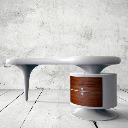 Schreibtisch in modernem Design  Bean weiß, rot oder schwarz