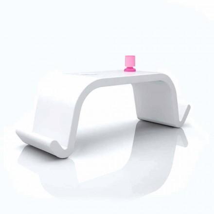 Büro Schreibtisch in modernem Design Acton weiß, schwarz oder gold