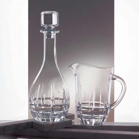 2 Flaschen mit rundem Design Weinstopper aus verziertem Kristall - Fiucco