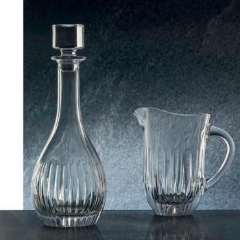 2 Weinflaschen aus ökologischem Kristall handgemahlener italienischer Luxus - Wunsch
