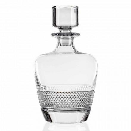 2 Whiskyflaschen aus ökologischem Kristall Made in Italy - Milito