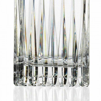 2 Kristall-Whiskyflaschen mit manuellem Mahlen Made in Italy - Voglia