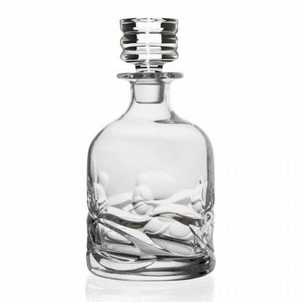 2 mit Öko-Kristallen verzierte Whiskyflaschen mit luxuriöser Designkappe - Titan