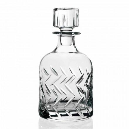 2 ökologische Kristall-Whiskyflaschen mit Deckel, Vintage-Dekorationen - Arrhythmie