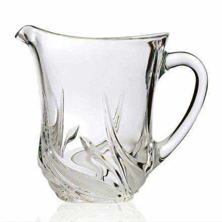 2 ökologische Kristallwasserkrüge mit Luxusdekorationen, Made in Italy - Advent