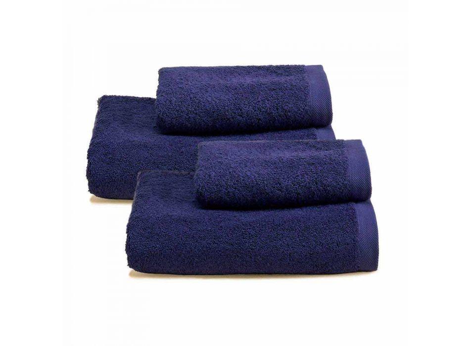 2 Paar Badetücher farbiger Service in Baumwolle Spguna - Vuitton