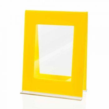 2 Fotorahmen mit mehreren Tischen im italienischen Design aus farbigem Plexiglas - Tarino