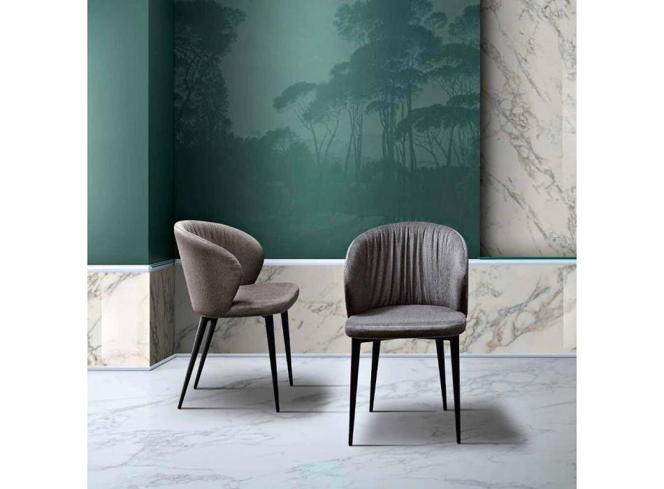 2 Wohnzimmerstühle aus Stoff und Esche von elegantem Design - Reginaldo