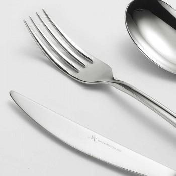 24 Besteck aus poliertem Stahl Dreieckiges Design Elegantes modernes Design - Caplin