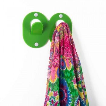 3 Wandhalterungen aus farbigem Plexiglas Double Italian Design mit Clip - Freddie