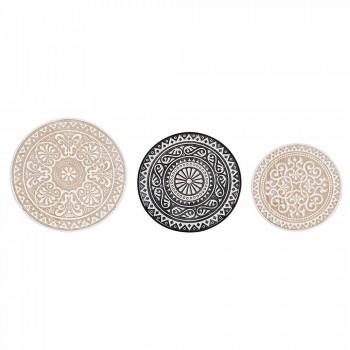 3 Couchtische in Mdf mit Homemotion eingelegten Dekorationen - Mariam