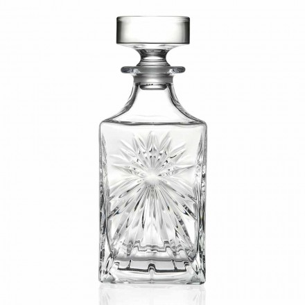 4 Whiskyflaschen mit Eco Crystal Cap Square Design - Daniele