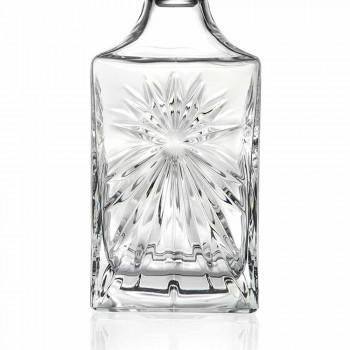 4 Whiskyflaschen mit Eco Crystal Cap Square Design - Daniele