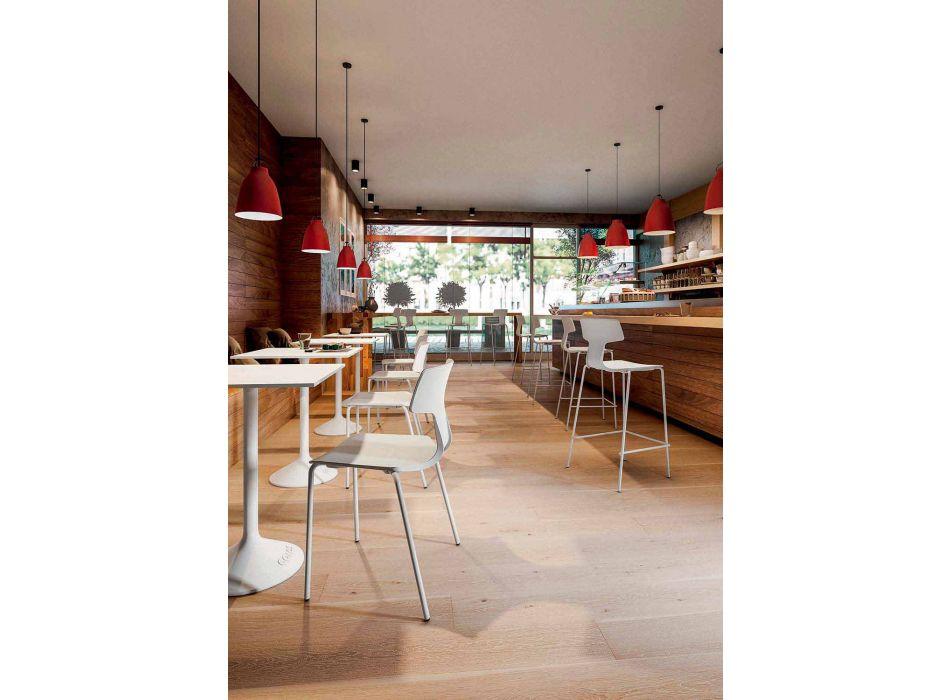 4 stapelbare Stühle aus Metall und Polypropylen Made in Italy - Clarinda