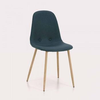 4 Esszimmerstühle mit Stoffsitz und Metallstruktur - Pampa