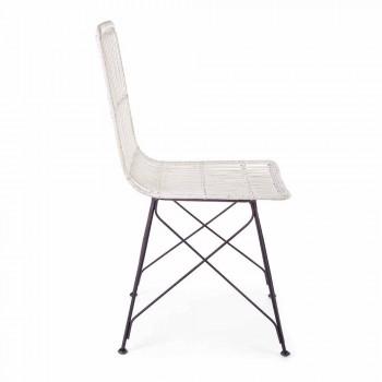 4 Esszimmerstühle aus Stahl und Gewebe von Kubu Homemotion - Kendall