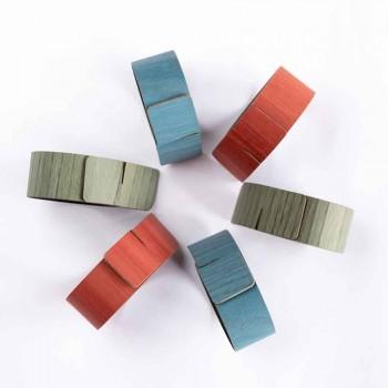 6 Design Serviettenringe in verschiedenen Farben Made in Italy - Potty