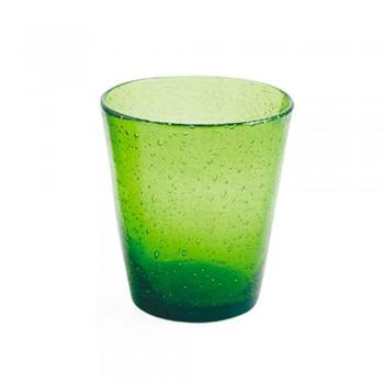 6 Gläser Wasserfahrzeugservice aus farbigem geblasenem Glas - Yucatan