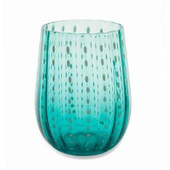 6 farbige und moderne Glasgläser für wassereleganten Service - Persien