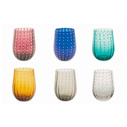 12 farbige und moderne Glasgläser für wassereleganten Service - Persien