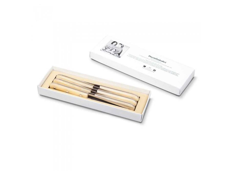 6 Tischmesser 2012 Berti Edelstahl Exklusiv für Viadurini - Annico